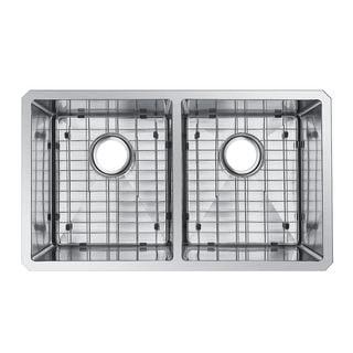 Starstar Stainless Steel 31-inch 50/50 Double Bowl Undermount Kitchen Sink Kit