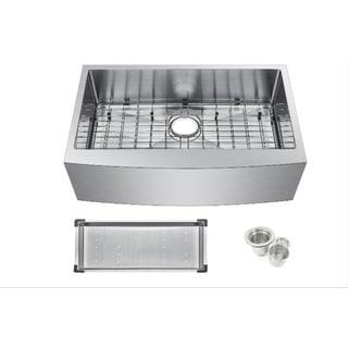 Starstar 304 Stainless-steel 30-inch Farmhouse Apron Single-bowl Kitchen Sink