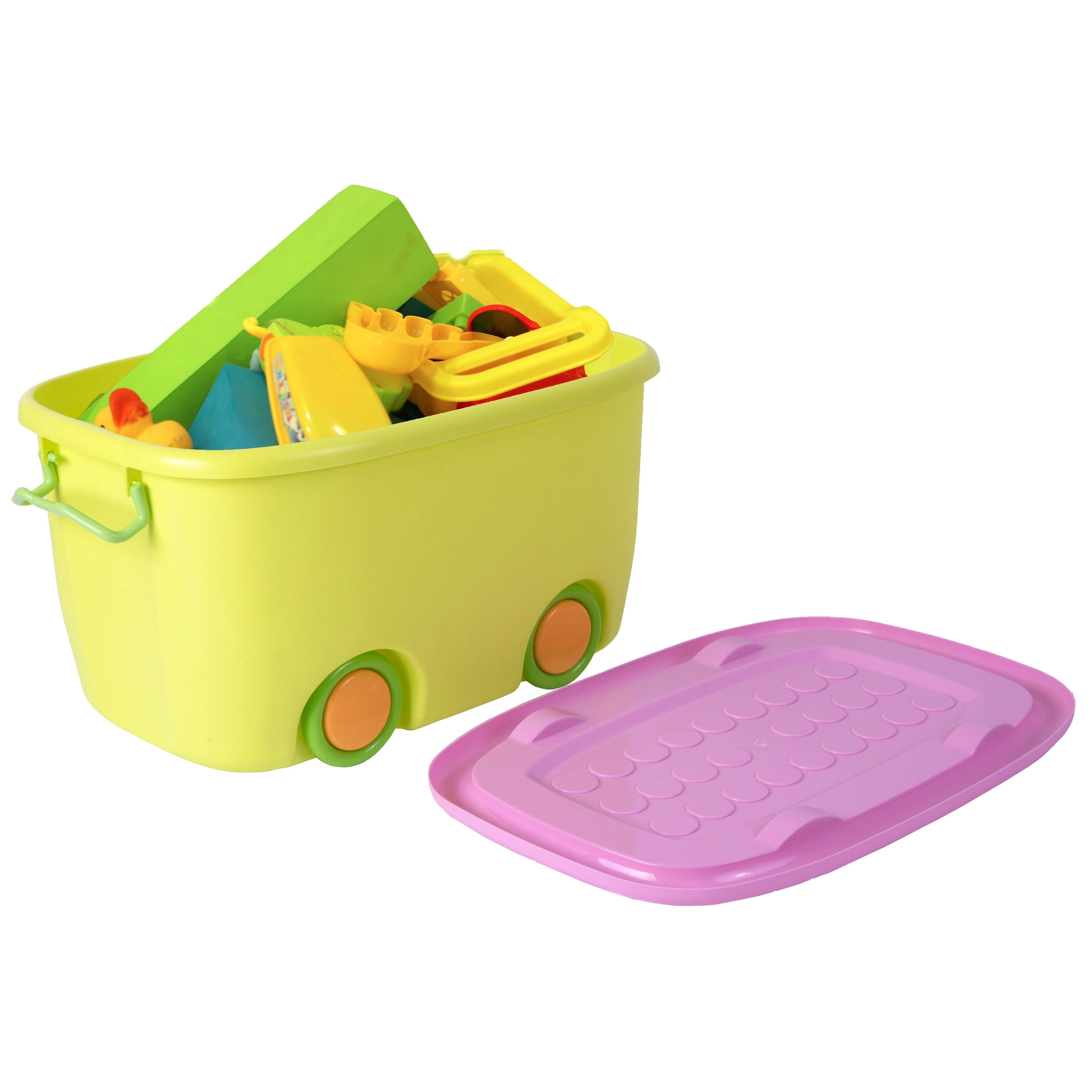 """Basicwise Stackable Toy Storage Box with Wheels (22"""" Stac..."""