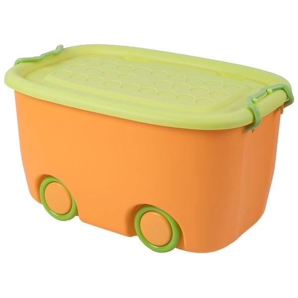 Large Yellow Stackable Toy Storage Box