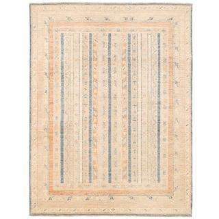Herat Oriental Afghan Hand-knotted Vegetable Dye Khotan Wool Rug (4'10 x 6'4)