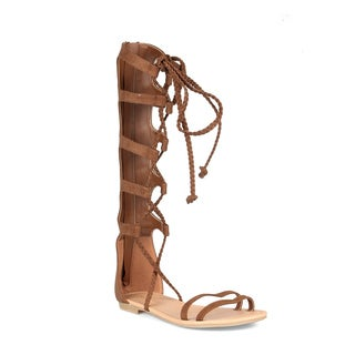 Mark and Maddux Pocahonta-01 Lace-up Women's Gladiator Sandals