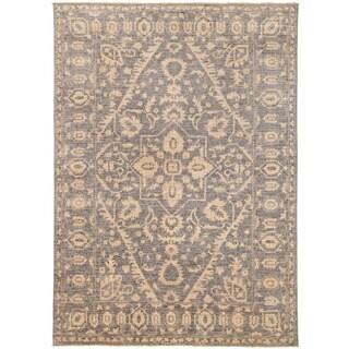 Herat Oriental Afghan Hand-knotted Vegetable Dye Khotan Wool Rug (4'8 x 6'7)