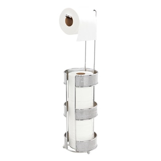 Bath Bliss Pave Diamond Design Toilet Paper Holder and Dispenser