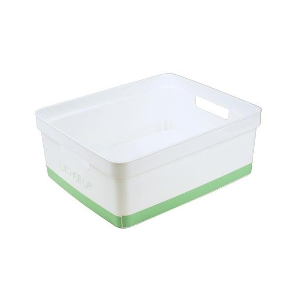 Simplify Blue/Clear Plastic Bathroom Storage Bin