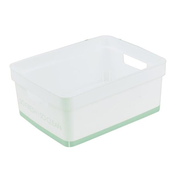 Simplify Small Lather Up Bathroom Storage Bin in Spa Blue