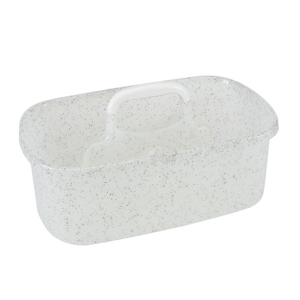 Simplify Granite Look Shower Caddy in White