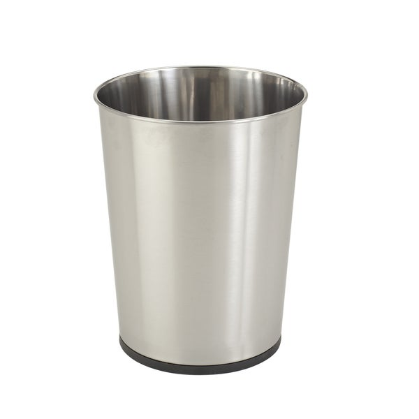 Bath Bliss Silver Stainless Steel Trash Can