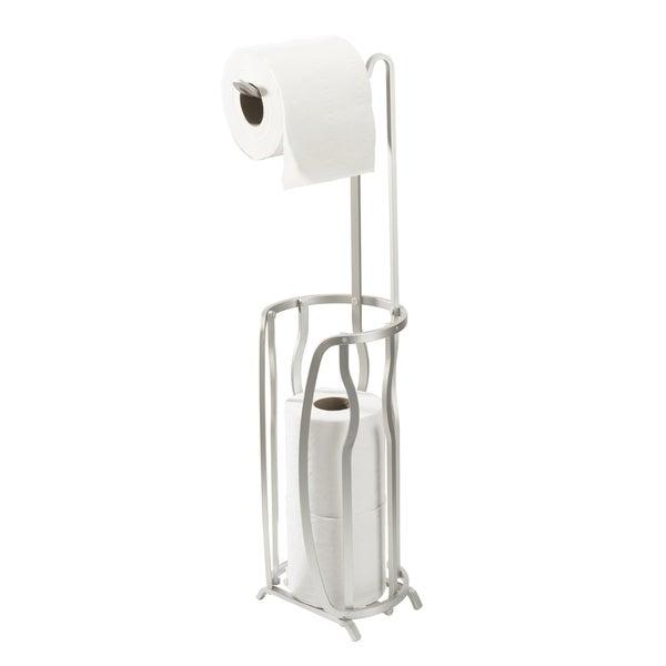 Bath Bliss Aluminum 4 Roll Toilet Paper Reserve and Dispenser