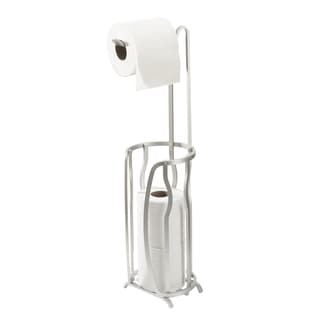 Bath Bliss Aluminum 4 Roll Toilet Paper Reserve and Dispenser