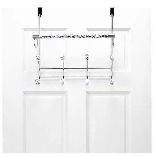 Over The Door Towel Rack Bathroom: Shop Bath Bliss Marble Tube Over The Door 8 Hook And Towel