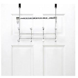 Bath Bliss Marble Tube Over the Door 8 Hook and Towel Bar Rack
