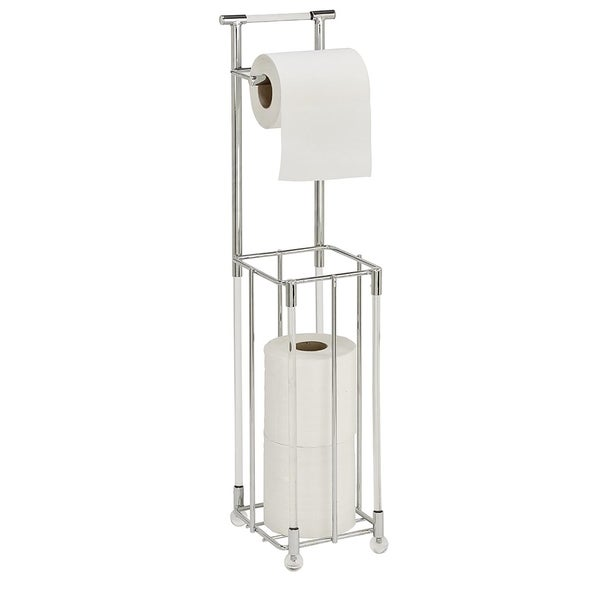 Bath Bliss Chrome Toilet Paper Reserve and Dispenser