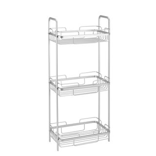 Bath Bliss Silver Aluminum 3-tier Bathroom Tower