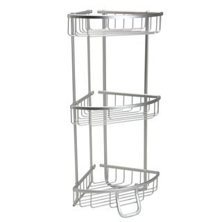 Bath Bliss Silver Aluminum 3-tier Corner Bath Shelf