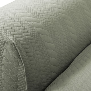 Darla Collection Platinum Strapless Cable Knit Form Fit Loveseat Slipcover