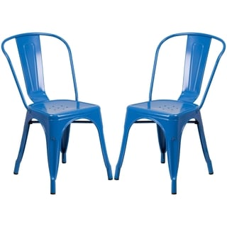 Blue Metal Bistro-style Chair