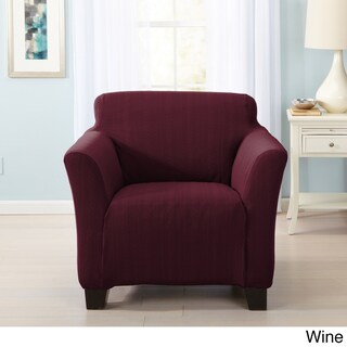 Home Fashion Designs Darla Collection Platinum Cable Knit Form Fit Chair Slipcover (4 options available)