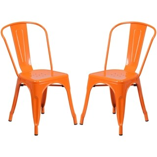 Orange Metal Bistro-style Chair