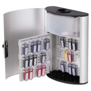 Durable Key Box Plus 54-Key Brushed Aluminum Silver 11 3/4 x 4 5/8 x 15 1/2
