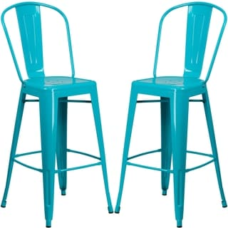 Outdoor barstools bar height home goods online store for everything home shop - Teal blue bar stools ...