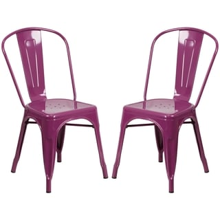 Purple Metal Bistro-style Chair