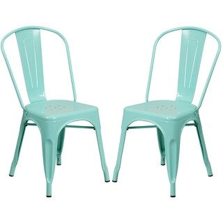 Mint Green Metal Bistro-style Chair