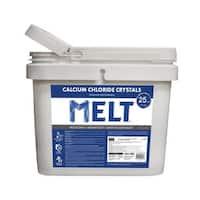 MELT 25 Lb. Bucket Calcium Chloride Crystals Ice Melter