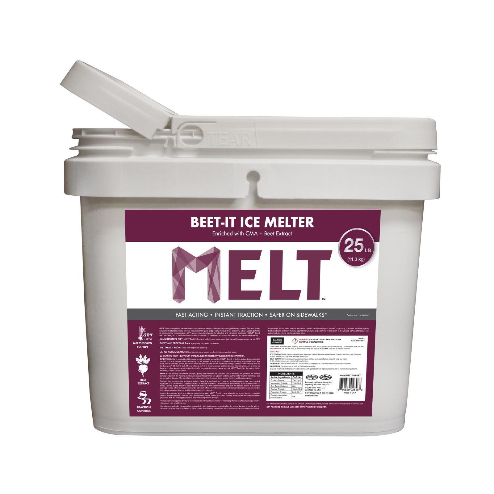 Snow Joe Melt 25 Lb. Bucket Beet (Red)-It Ice Melter w/ C...