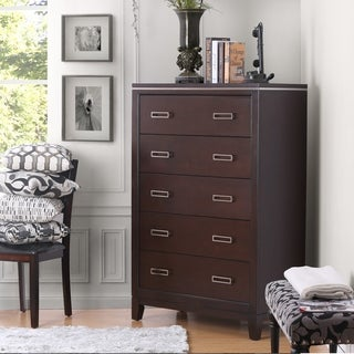 Furniture of America Derraugh Contemporary Cherry 5-drawer Chest