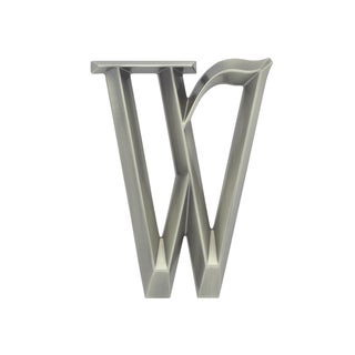 White Hall Polished Nickel 6-inch Classic Letter W Sign