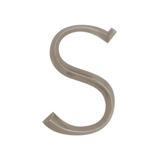 Whitehall Nickel 6-inch Classic 'Letter S' Sign