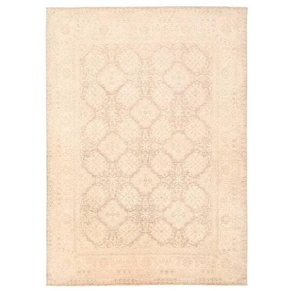 Herat Oriental Afghan Hand-knotted Vegetable Dye Khotan Wool Rug (9'1 x 12'8)
