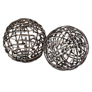 Bola Correa Antique Copper Decorative Balls (Set of 2)