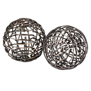Bola Correa Antique Copper Decorative Balls (Set of 2)