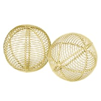 Bola Parrilla Gold Spheres (Set of 2)