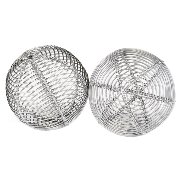 Bola Parrilla Silver Sphere Set of 2