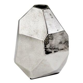 Faceta Raw Silver Bud Vase