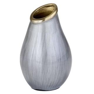 Sedoso Gray & Gold Round Vase