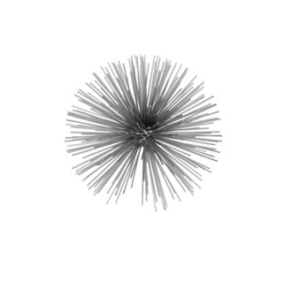 Erizo Spiked Medium Silver Sphere