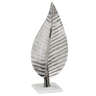 Hoja Chiseled Leaf on Marble Base