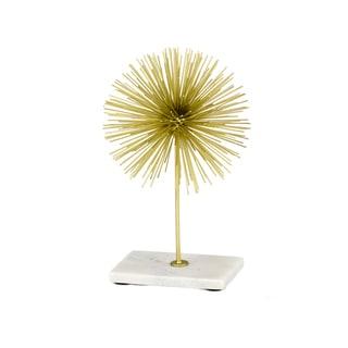 Erizo Spiked Medium Gold Sphere on Base
