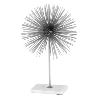 Erizo Spiked Large Silver Sphere on Base