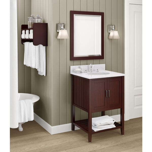 sink espresso 24 inch bathroom vanity with storage shelf and mirror