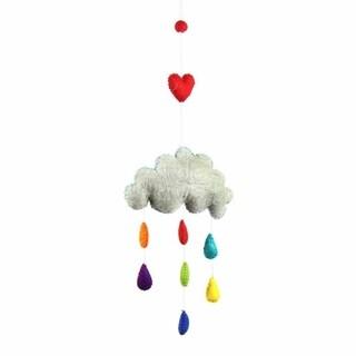 Handmade Felt Rain Cloud Mobile - Global Groove (Nepal)
