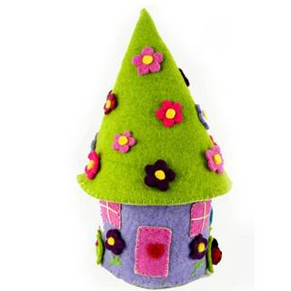 Handmade Felted Fairy House with Flower Fairy - Global Groove (Nepal)