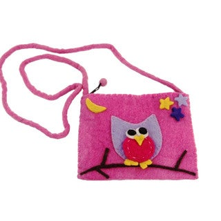 Handmade Felt Owl Purse - Global Groove (Nepal)