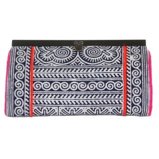 Hand Batiked Indigo Hmong Clutch - Global Groove (Thailand)