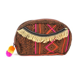 Handmade Earth Hmong Batiked Makeup Bag - Global Groove (Thailand)
