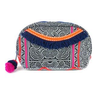 Handmade Indigo Hmong Batiked Makeup Bag - Global Groove (Thailand)